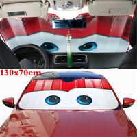 130x70cm Car Sun Visors Windscreen Vehicle Big Eye Front Windshield Sunshade Red