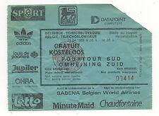 ORIG. ticket WM cualificación 29.04.1989 Bélgica-kucera rara vez!!!