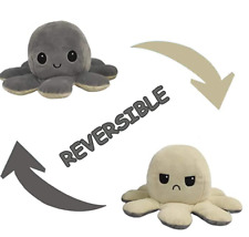 Peluche pieuvre / Octopus réversible EMOTION  Plusieurs Coloris