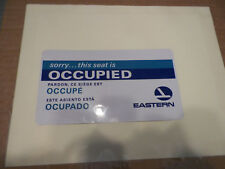 Eastern Airlines Occupied/Reserved Seat Sign vintage..excellent condition