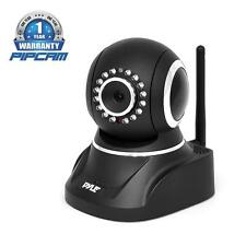 NEW Pyle PIPCAM8 Indoor Wireless IP Camera With SD-Card Audio-Video Rec and Mic