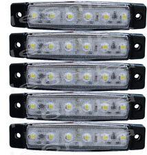 5 pcs 12V 6 SMD LED White Side Front Marker Indicators Lights Lamp Truck Trailer