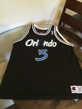 Orlando Magic Dennis Scott Black Champion Jersey 48 Good Condition