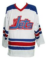 Any Name Number Size Jets Wha Custom Hockey Jersey White Bobby Hull