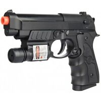 Full Size M9 G52R AIRSOFT SPRING PISTOL HAND GUN BBs 6mm w/ TACTICAL LASER