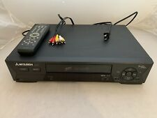Mitsubishi Hs-U775 Super Vcr 4 Head Hi-fi S-Vhs Vcr Player Recorder - Tested