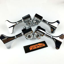 Wilkinson WJB-750 2X2 Chrome Bass Guitar Machine Heads Tuning Pegs