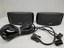 Pair (2) Bose AV 3-2-1 AV321 I II III Media Center Audio Speakers With Cable