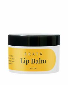 Arata Natural Lip balm for dry, chapped lips with Intense Moisturizing (10gm)