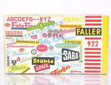 RARE UNUSED VINTAGE FALLER 922 OO / HO - VARIOUS SIGNS & POSTERS