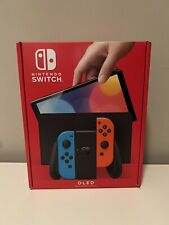 🔥Brand New & Factory Sealed Nintendo Switch OLED Neon Red Blue Console, In-Hand