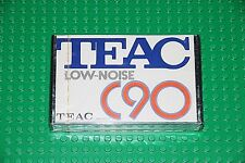 TEAC      LOW NOISE  C- 90    BLANK CASSETTE TAPE  (1)     (SEALED)