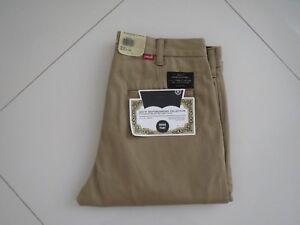 Levi's Men Khaki Skate Boarding Collection Flat Front Cotton Work Pants Size 30