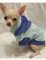 Dog Hoodie/Dog Clothes/Blue Prince in Training Velour Hoodie/XS,S,M,-FREE SHIP