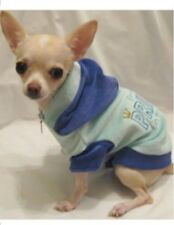 Dog Hoodie/Dog Clothes/Blue Prince in Training Velour Hoodie/XS,S,M,L-FREE SHIP