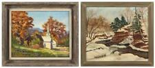 """MARY KEEFE, American, Mid-20th Century, Two works: """"October in Vermo... Lot 416A"""