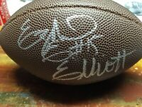 Ezekiel Elliott Autographed Ohio State Buckeyes Mini Football COA CERTIFIED