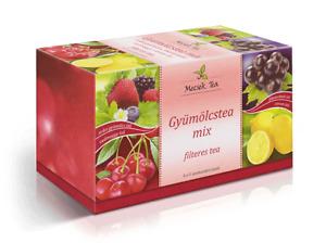 Mecsek Natural Fruit Tea Premium Selection Box 4 Types Fruit Tea Added Herbals