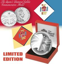 2012 Queen Diamond Jubilee Coin Set Limited Edition COA Box Silver Like CuNi UNC