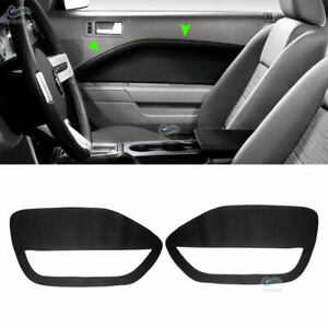 2xRHD Inner Front Door Panel Insert Cards Leather Cover for Ford Mustang 05-09
