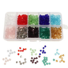 1000pcs Mixed Colors 4mm Crystal Glass Rondelle Faceted Loose Spacer Beads