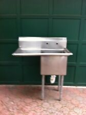 Stainless Steel Commercial Restaurant Single Sink - Mint Condition