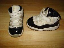 NIKE JORDAN 11 RETRO (TD) TODDLER 378040-107 Shoes Size 5 C !!! WHITE BLACK