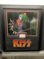 RARE KISS GENE SIMMONS signed Index Card JSA Framed To 24x28 Paul Stanley