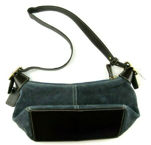 NWT Coach Authentic Blue Suede Leather Mini Hobo Shoulder Bag Purse