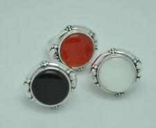 Markenlose Echte Edelstein-Ringe mit Onyx und Cabochon