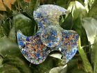 Energized LAPIS Orgone Fidget Spinner pointed Crystal Therapy Booklet