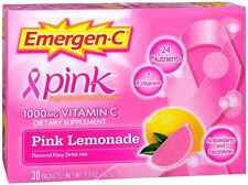 Emergen-C Vitamin C Packets Pink Lemonade 30 Each