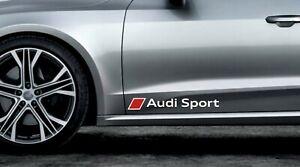 2 x Audi Sport Aufkleber für Türen A1 A3 A4 A5 A6 A7 RS Q2 Q3 Q5 Emblem Logo