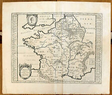 Carte ancienne ORTELIUS antique map 1634 GALLIA VETUS Gaule Celte Aquitaine