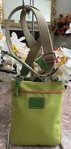 New COACH Lemon Nylon Leather Trim Cross-body Swing-pack Bag L055-5006 MSRP $158