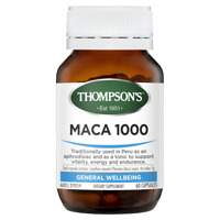 Thompson's Maca 1000 60 Capsules Aphrodisiac Vitality Endurance Thompsons