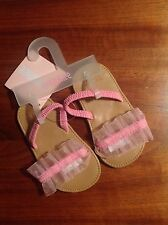 NWT Vintage Gymboree Girls Sandals Shoes Size 1 Refresher Ice Cream Shop Pink