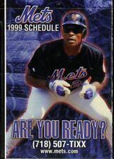 Schedule Baseball New York Mets - 1999 - Chase Rickey Henderson