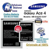Batteria Samsung Galaxy ACE 4 LTE SM-G357FZ G357 1900 mAh EB-BG357BBE Originale