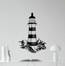Lighthouse Wall Decal Bathroom Vinyl Sticker Sea Nautical Decor Art Poster 87hor