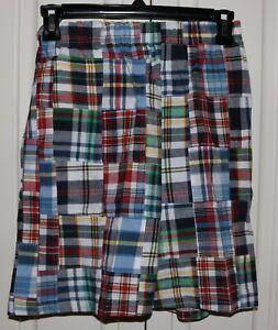Boy's CWD Kids Madras Shorts - Size 10/12