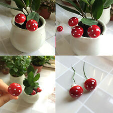Mini Red Mushroom Garden Ornament Miniature Plant Pots Fairy DIY Dollhouse 20Pcs