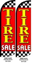Tire Sale (Red) King Size Windless 38 x 138 in Polyester Swooper Flag pk of 2