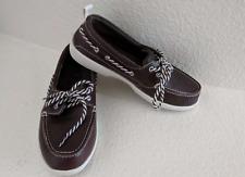 CROCS Leather Boat Shoes - Leather Lace Up Men's Sz 6 - NWOT