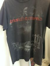 Avenged Sevenfold Nightmare t shirt 2010 Vintage grey worn band tee heavy metal