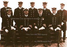 "Photo: 5"" x 7"" SEPIA Print: Captain Smith & Senior Officers: RMS Titanic, 1912"