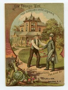 BEFORE & AFTER 1888 TRADE CARD BOOKLET FARM FERTILIZER CLEVELAND WITH & WITHOUT