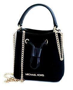 Michael Kors Shoulder Bag Suri XS Bucket cross Body Mini Bag Suede New