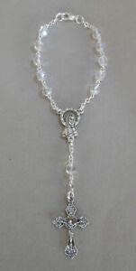 Rosenkranz klar schimmernde Perlen mit Verschluß für Autospiegel NI 715173 N