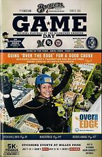 """""""OVER THE EDGE"""" ON MILWAUKEE BREWERS 2014 OFFICIAL GAMEDAY PROGRAM ISSUE #13"""